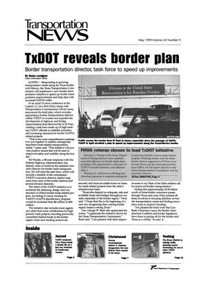 Primary view of object titled 'Transportation News, Volume 24, Number 9, May 1999'.