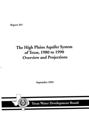 Primary view of object titled 'The High Plains Aquifer System of Texas, 1980 to 1990'.