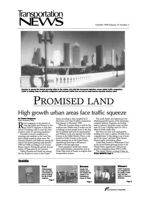 Primary view of object titled 'Transportation News, Volume 25, Number 2, October 1999'.