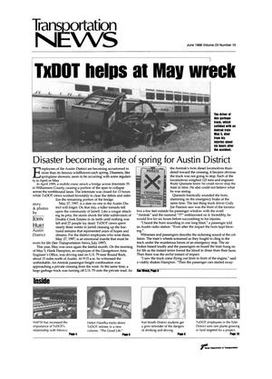 Primary view of object titled 'Transportation News, Volume 23, Number 10, June 1998'.