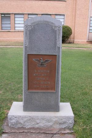Primary view of object titled 'WWII Memorial, Coleman County'.