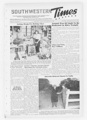 Primary view of object titled 'Southwestern Times (Houston, Tex.), Vol. 5, No. 13, Ed. 1 Thursday, December 16, 1948'.