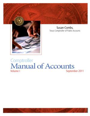 Primary view of object titled 'Comptroller Manual of Accounts: Volume 1'.