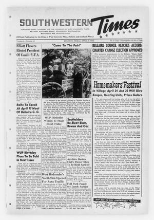 Primary view of object titled 'Southwestern Times (Houston, Tex.), Vol. 8, No. 24, Ed. 1 Thursday, April 3, 1952'.