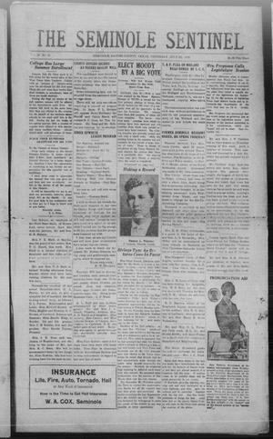 Primary view of object titled 'The Seminole Sentinel (Seminole, Tex.), Vol. 20, No. 18, Ed. 1 Thursday, July 29, 1926'.