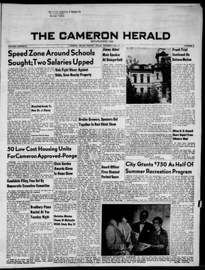 Primary view of object titled 'The Cameron Herald (Cameron, Tex.), Vol. 97, No. 6, Ed. 1 Thursday, May 17, 1956'.