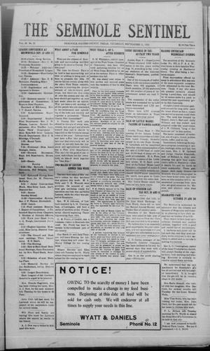 Primary view of object titled 'The Seminole Sentinel (Seminole, Tex.), Vol. 18, No. 25, Ed. 1 Thursday, September 11, 1924'.