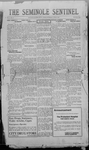 Primary view of object titled 'The Seminole Sentinel (Seminole, Tex.), Vol. 15, No. 15, Ed. 1 Thursday, June 30, 1921'.