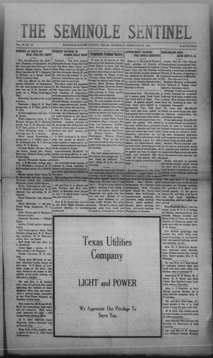 Primary view of object titled 'The Seminole Sentinel (Seminole, Tex.), Vol. 24, No. 47, Ed. 1 Thursday, February 26, 1931'.