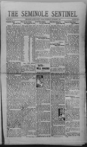 Primary view of object titled 'The Seminole Sentinel (Seminole, Tex.), Vol. 27, No. 35, Ed. 1 Thursday, November 2, 1933'.