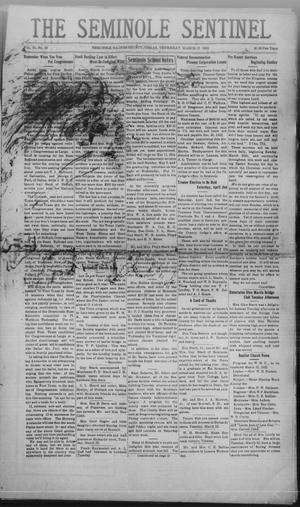 Primary view of object titled 'The Seminole Sentinel (Seminole, Tex.), Vol. 25, No. 49, Ed. 1 Thursday, March 17, 1932'.