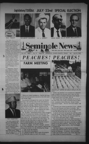 Primary view of object titled 'Seminole News (Seminole, Tex.), Vol. 3, No. 15, Ed. 1 Wednesday, July 16, 1969'.