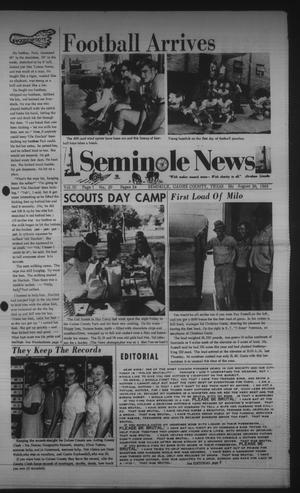 Primary view of object titled 'Seminole News (Seminole, Tex.), Vol. 3, No. 20, Ed. 1 Wednesday, August 20, 1969'.