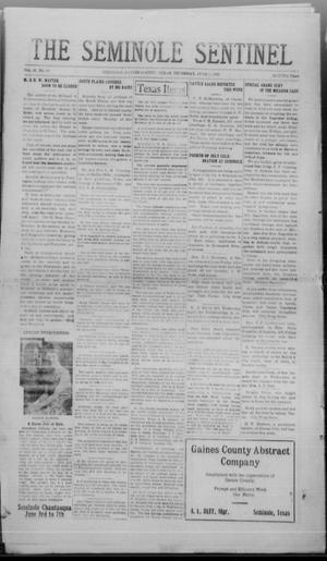 Primary view of object titled 'The Seminole Sentinel (Seminole, Tex.), Vol. 16, No. 10, Ed. 1 Thursday, June 1, 1922'.
