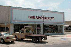 Primary view of object titled 'Cheapo Depot in Brownwood'.