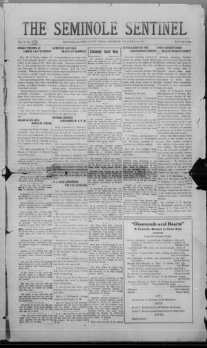 Primary view of object titled 'The Seminole Sentinel (Seminole, Tex.), Vol. 15, No. 33, Ed. 1 Thursday, November 10, 1921'.