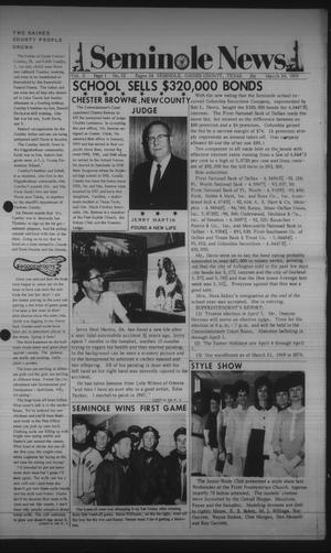 Primary view of object titled 'Seminole News (Seminole, Tex.), Vol. 2, No. 52, Ed. 1 Wednesday, March 26, 1969'.