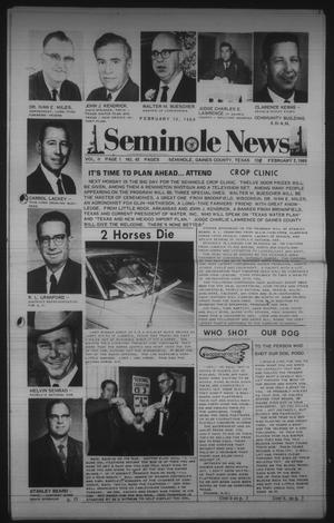 Primary view of object titled 'Seminole News (Seminole, Tex.), Vol. 2, No. 45, Ed. 1 Wednesday, February 5, 1969'.