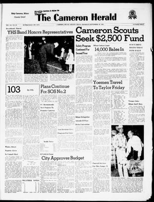 Primary view of object titled 'The Cameron Herald (Cameron, Tex.), Vol. 103, No. 26, Ed. 1 Thursday, September 20, 1962'.