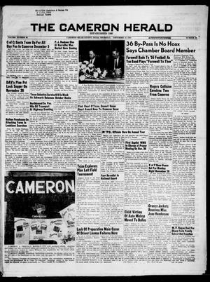 Primary view of object titled 'The Cameron Herald (Cameron, Tex.), Vol. 96, No. 33, Ed. 1 Thursday, November 24, 1955'.
