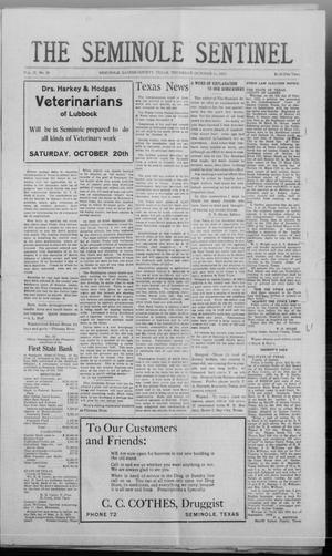 Primary view of object titled 'The Seminole Sentinel (Seminole, Tex.), Vol. 17, No. 29, Ed. 1 Thursday, October 11, 1923'.