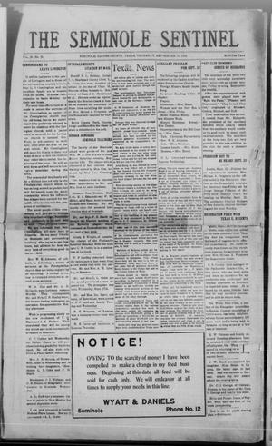 Primary view of object titled 'The Seminole Sentinel (Seminole, Tex.), Vol. 18, No. 26, Ed. 1 Thursday, September 18, 1924'.