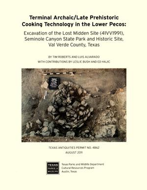 Primary view of object titled 'Terminal archaic/late prehistoric cooking technology in the lower Pecos : excavation of the Lost Midden site (41VV1991), Seminole Canyon State Park and Historic Site, Val Verde County, Texas'.