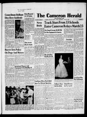 Primary view of object titled 'The Cameron Herald (Cameron, Tex.), Vol. 97, No. 51, Ed. 1 Thursday, March 21, 1957'.