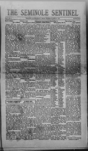Primary view of object titled 'The Seminole Sentinel (Seminole, Tex.), Vol. 27, No. 8, Ed. 1 Thursday, April 27, 1933'.