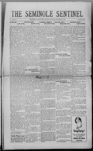 Primary view of object titled 'The Seminole Sentinel (Seminole, Tex.), Vol. 18, No. 37, Ed. 1 Thursday, December 4, 1924'.