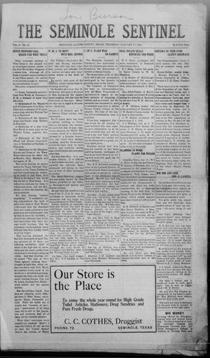 Primary view of object titled 'The Seminole Sentinel (Seminole, Tex.), Vol. 17, No. 43, Ed. 1 Thursday, January 17, 1924'.