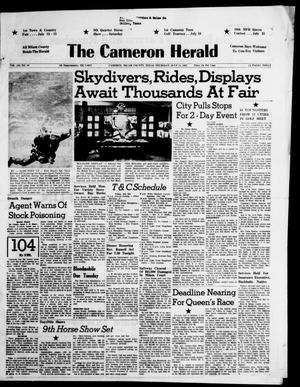 Primary view of object titled 'The Cameron Herald (Cameron, Tex.), Vol. 104, No. 16, Ed. 1 Thursday, July 11, 1963'.