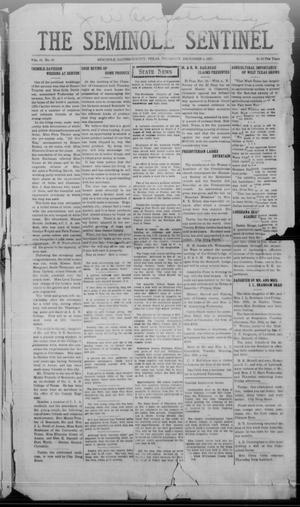 Primary view of object titled 'The Seminole Sentinel (Seminole, Tex.), Vol. 15, No. 36, Ed. 1 Thursday, December 1, 1921'.