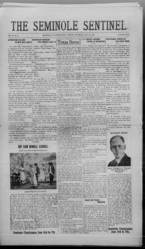 Primary view of object titled 'The Seminole Sentinel (Seminole, Tex.), Vol. 16, No. 8, Ed. 1 Thursday, May 18, 1922'.