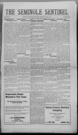 Primary view of object titled 'The Seminole Sentinel (Seminole, Tex.), Vol. 16, No. 11, Ed. 1 Thursday, June 8, 1922'.