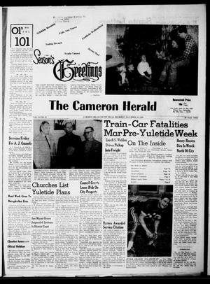 Primary view of object titled 'The Cameron Herald (Cameron, Tex.), Vol. 101, No. 39, Ed. 1 Thursday, December 22, 1960'.