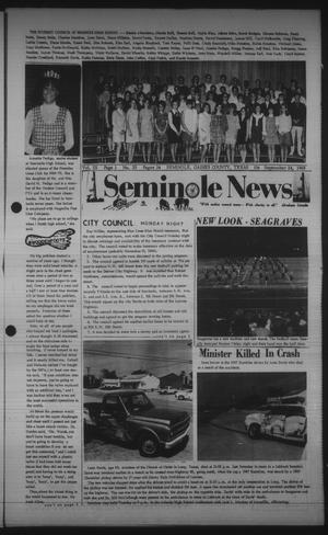 Primary view of object titled 'Seminole News (Seminole, Tex.), Vol. 3, No. 25, Ed. 1 Wednesday, September 24, 1969'.