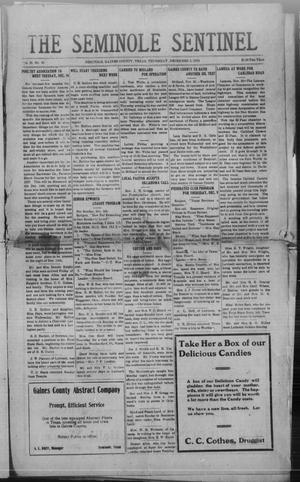Primary view of object titled 'The Seminole Sentinel (Seminole, Tex.), Vol. 20, No. 36, Ed. 1 Thursday, December 2, 1926'.