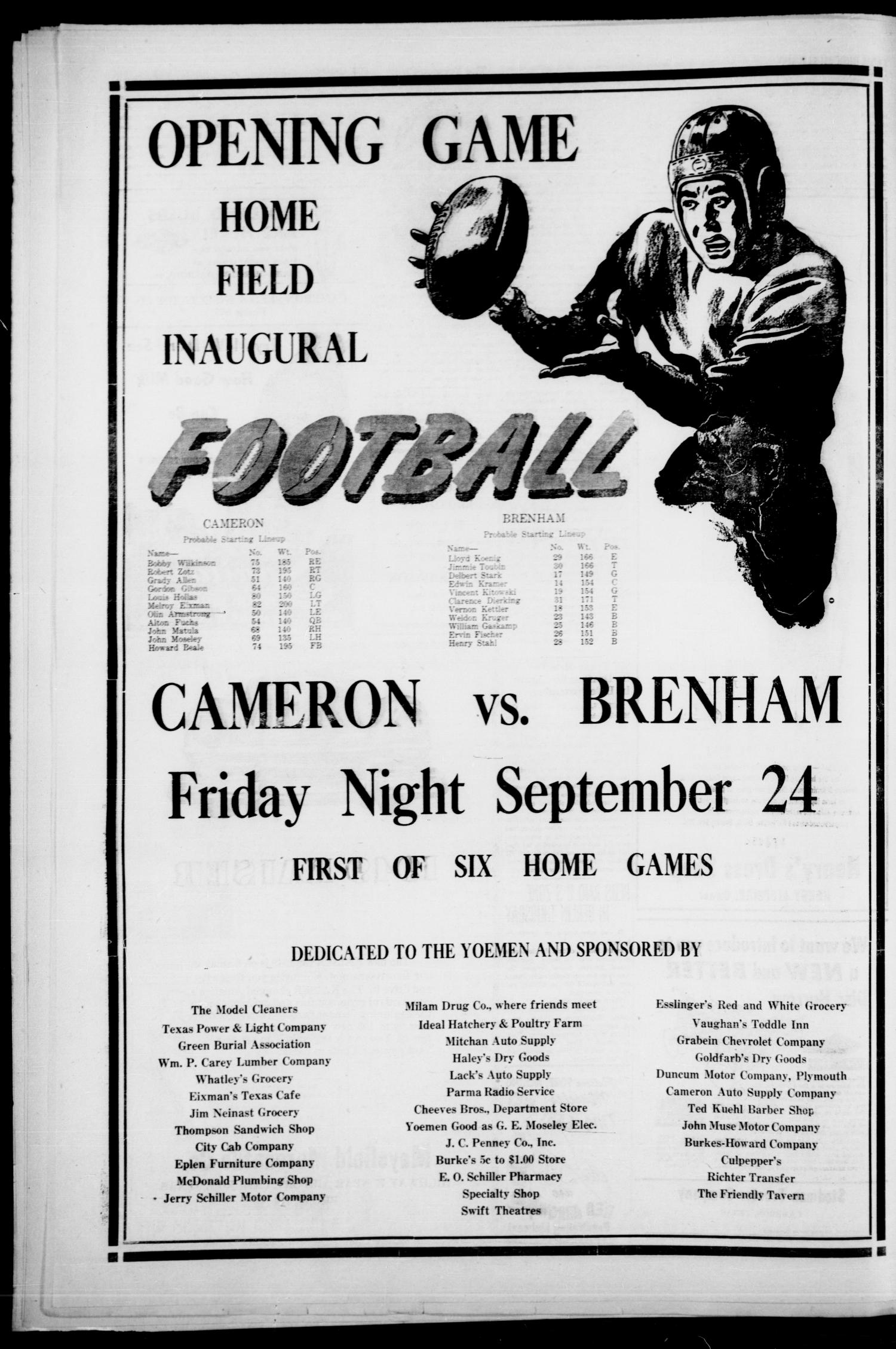 The Cameron Herald and Centinel (Cameron, Tex.), Vol. 89, No. 24, Ed. 1 Thursday, September 23, 1948                                                                                                      [Sequence #]: 4 of 12