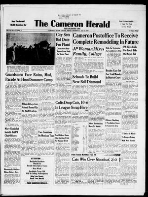 Primary view of object titled 'The Cameron Herald (Cameron, Tex.), Vol. 98, No. 11, Ed. 1 Thursday, June 13, 1957'.