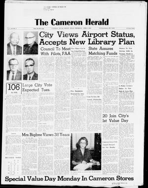 Primary view of object titled 'The Cameron Herald (Cameron, Tex.), Vol. 106, No. 2, Ed. 1 Thursday, April 1, 1965'.