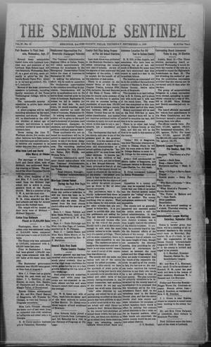 Primary view of The Seminole Sentinel (Seminole, Tex.), Vol. 27, No. 28, Ed. 1 Thursday, September 14, 1933