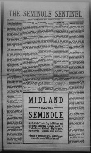 Primary view of object titled 'The Seminole Sentinel (Seminole, Tex.), Vol. 24, No. 51, Ed. 1 Thursday, March 26, 1931'.