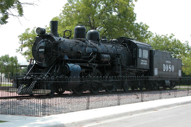 atchison topeka u0026 santa fe a t s f train engine 1080 the