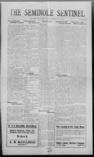 Primary view of object titled 'The Seminole Sentinel (Seminole, Tex.), Vol. 17, No. 16, Ed. 1 Thursday, July 12, 1923'.