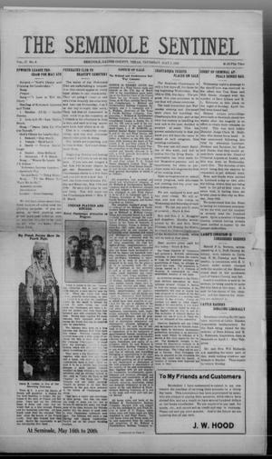 Primary view of object titled 'The Seminole Sentinel (Seminole, Tex.), Vol. 17, No. 6, Ed. 1 Thursday, May 3, 1923'.