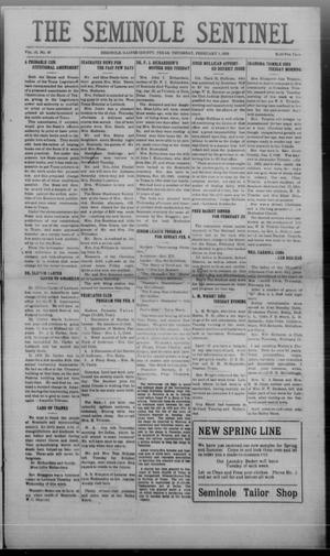 Primary view of object titled 'The Seminole Sentinel (Seminole, Tex.), Vol. 16, No. 45, Ed. 1 Thursday, February 1, 1923'.