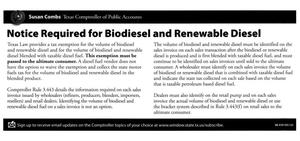Primary view of object titled 'Notice required for biodiesel and renewable diesel'.