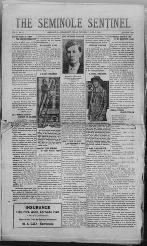 Primary view of object titled 'The Seminole Sentinel (Seminole, Tex.), Vol. 20, No. 12, Ed. 1 Thursday, June 17, 1926'.