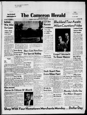 Primary view of object titled 'The Cameron Herald (Cameron, Tex.), Vol. 98, No. 13, Ed. 1 Thursday, June 27, 1957'.